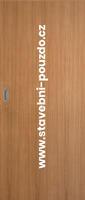 Posuvné dveře SAPELI ELEGANT - M10 plné, mušle ovál saten mat bez zamykání + čelní úchyt