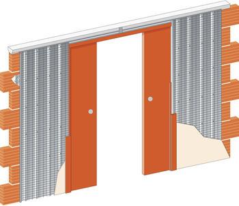 Stavební pouzdro JAP 715 Komfort ZEĎ 2050 mm, výška průchodu 2600 mm - 1