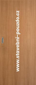 Posuvné dveře SAPELI ELEGANT - M10 plné, mušle ovál saten mat bez zamykání + čelní úchyt - 1