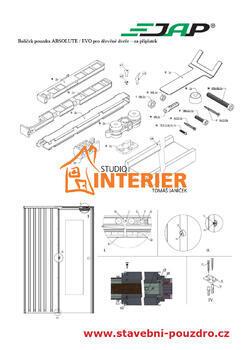 Sada pro jednokřídlé dřevěné dveře k pouzdru JAP AKTIVE / EMOTIVE STANDARD - 2