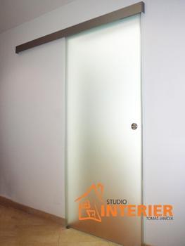 Posuvný systém JAP TRIX ZERO 600 mm, pro DŘEVĚNÉ dveře - 3