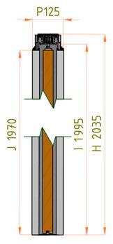 Stavební pouzdro JAP 712 Aktive Komfort 1650 mm, výška průchodu 2700 mm - 5