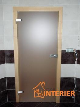 Posuvné celoskleněné dveře SATINÁTO BÍLÉ 8 mm včetně zárubně - 5