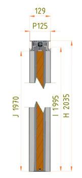 Stavební pouzdro JAP 713 Emotive Komfort 2250 mm, výška průchodu 2700 mm - 5