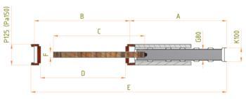 Stavební pouzdro JAP 701 Latente Standard 600 mm, výška průchodu 2600 mm - 5