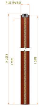 Stavební pouzdro JAP 711 Latente Komfort 1850 mm, výška průchodu 1970 mm - 5