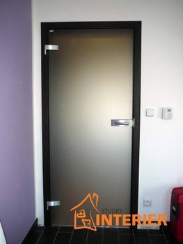 Posuvné celoskleněné dveře SATINÁTO BÍLÉ 8 mm včetně zárubně - 6