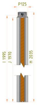 Stavební pouzdro JAP 702 Aktive Standard 1200 mm, výška průchodu 2600 mm - 7