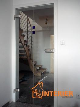 Posuvné celoskleněné dveře FLOAT ČIRÉ 8 mm včetně zárubně - 7