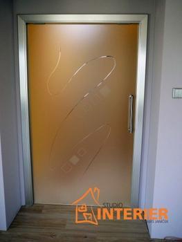Posuvné celoskleněné dveře SATINÁTO BÍLÉ 8 mm včetně zárubně - 7