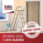 Rezervujte si slevu 16% na nákup nových dveří!