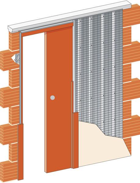 Stavební pouzdro JAP STANDARD ZEĎ - 700 mm
