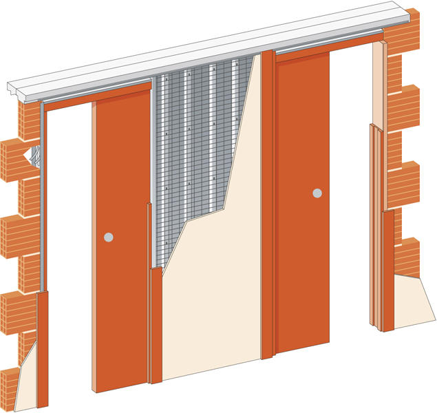 Stavební pouzdro JAP 720 Unibox do sádrokartonu 1000+1000 mm