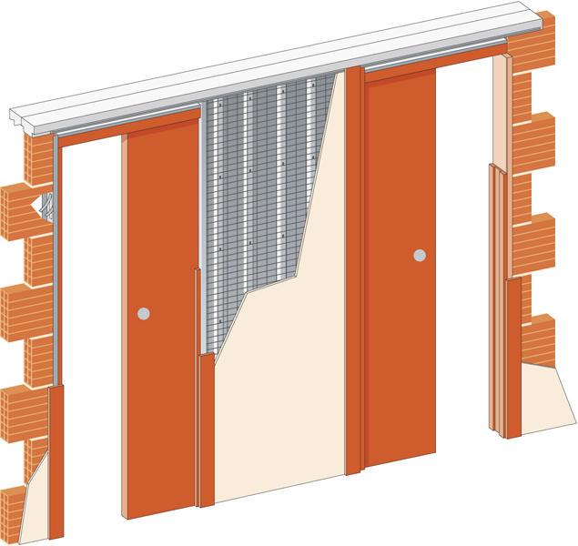 Stavební pouzdro JAP 720 Unibox do sádrokartonu 700+700 mm